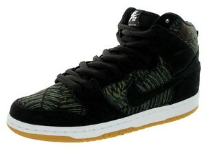 premium selection 19eae 5111e Image is loading Nike-DUNK-HIGH-PRO-SB-Black-Medium-Olive-