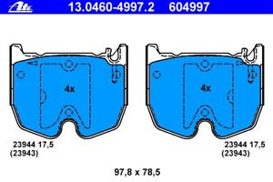 Bremsbelagsatz Scheibenbremse ATE 13.0460-4997.2