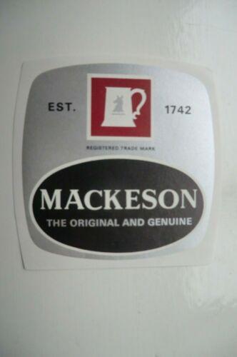 MINT MACKESON  BREWERY BEER BOTTLE LABEL