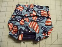 Blue Butterfly Flag Female Dog Diaper Panty Adjust Elastic Carols Crate Covers