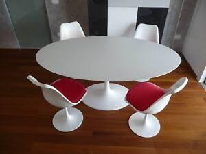 Tavolo Saarinen Misure : Tavolo tulip ovale laminato liquido saarinen table made in