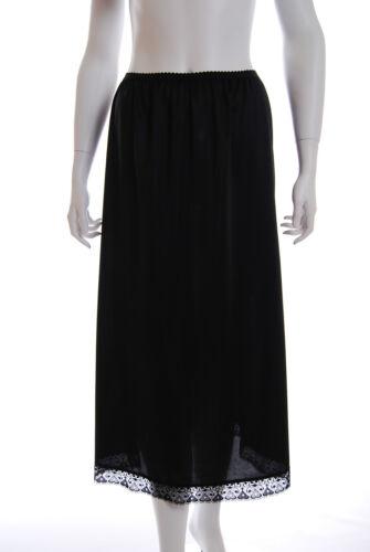 """Ladies Half waist slip underskirt petticoat /""""UK MADE/"""" New Black Ivory /& white"""