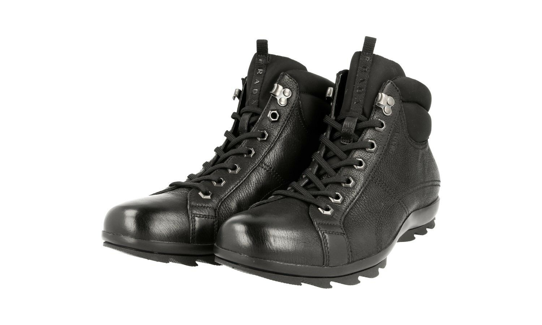 Lujo prada botín zapatos 4t1846 negro nuevo New 7 41 41,5
