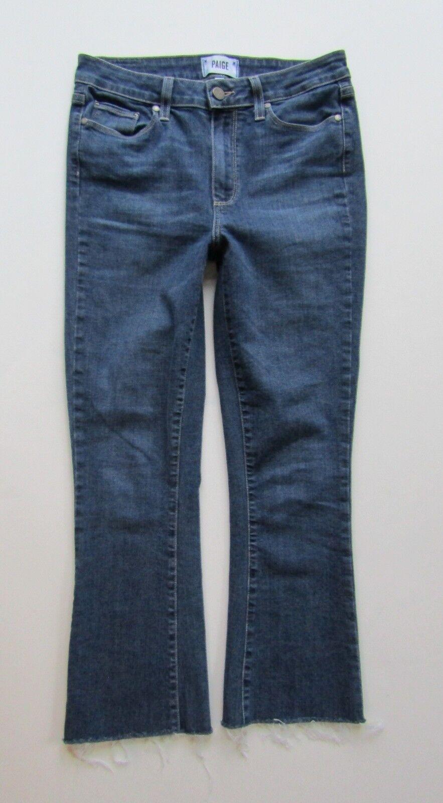 Paige Premium Denim Rory Crop Flare Jean in Erin, Raw Hem - Size 28