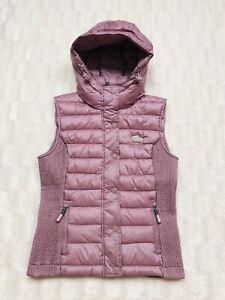pelliccia S Bnwot Body Taglia Gillet collo con 10 Pink Superdry Jacket di Warmer Coat q1z6pcTAP