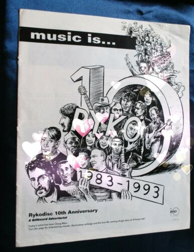 Ryko 10th Anniversary Billboard David #Bowie Ad advertorial ZAPPA 93 YOKO RINGO