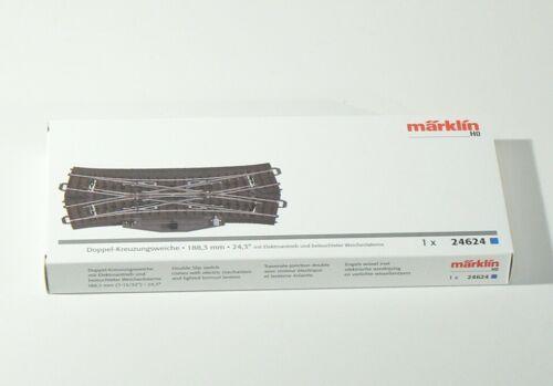 Nuovo C – binario doppio incrocio morbido Confezione Originale Märklin h0 24624