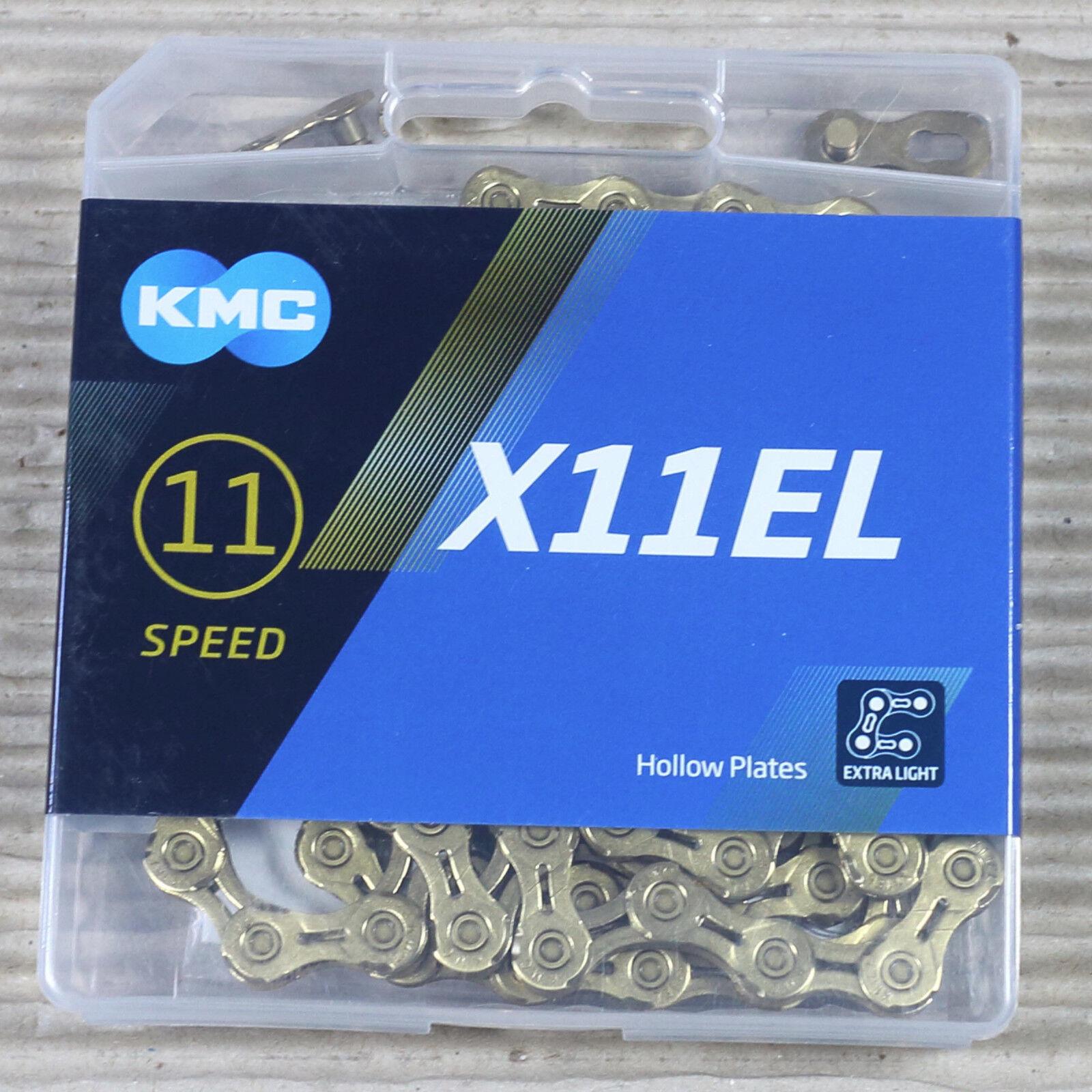 KMC KETTE X-11-EL X-11-EL X-11-EL Ti-N Goldfarben 118 Glieder mit Missing Link Kettenschloss 43cc1e