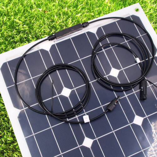100W Semi Flexible Back Contact Solar Panel Kit 10A Charge Controller PV NEW