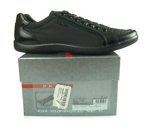 351882c02f4 M1 PRADA baskets man man scarpe NERO chaussures homme chaussures 100 ...