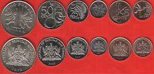 Trinidad and Tobago set of 6 coins: 1 cent - 1 dollar 1979-2008 UNC