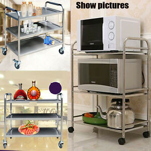 Image Is Loading 3 TIER CATERING SERVING TROLLEY HOSTESS FOOD RESTAURANT