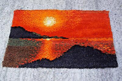 Aggressiv 60er Teppich Wandteppich Wall Carpet Rug Shag (80 X 125) 70er 100% Hochwertige Materialien