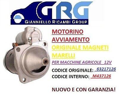 "MOTORINO AVVIAMENTO /""MAGNETI MARELLI/"" EUROCARGO MT71A MT71AA 63217126  12V"
