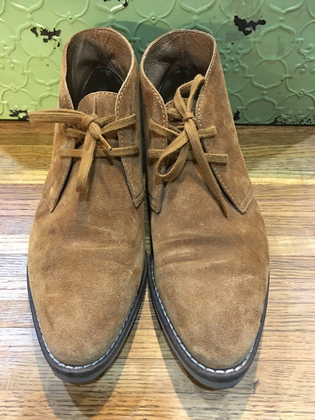 J Crew MacAlister Womens Casual Suede Lace Up Flat Desert Boot Chukka Sz 8 B4139