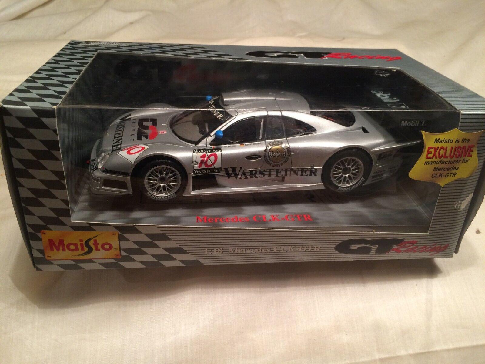 Mercedes Benz CLK GTR 1997 Warsteiner Nannini Maisto GT Racing 38848 1 18 scale