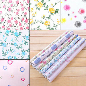 Details about yazi Wall Paper Vinyl Self Adhesive Floral Wallpaper Drawer  Liner Paper Roll