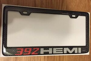 Attractive Image Is Loading Real CarbonFiber License Plate Frame Hellcat Hemi 392
