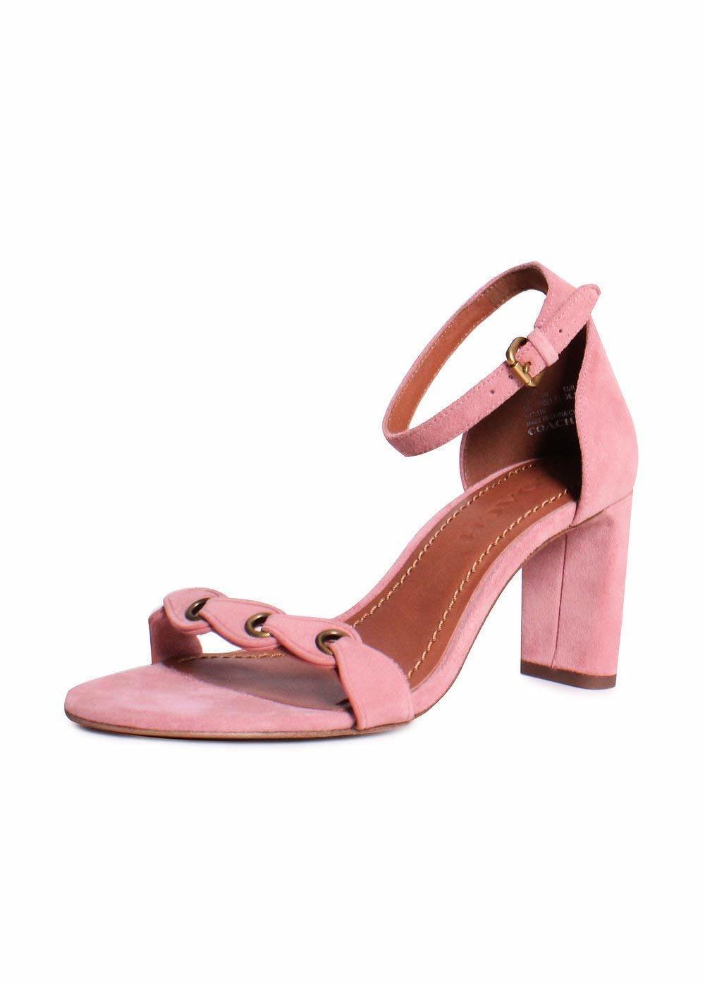 Entrenador de tacón para mujer sandalia Zapatos Peonía Gamuza 8.5 Nuevo En Caja