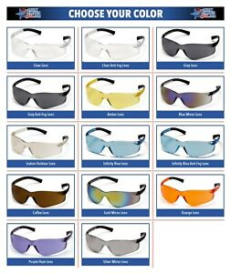Pyramex-Ztek-Safety-Glasses-Work-Eyewear-Choose-Your-Lens-Color-ANSI-Z87