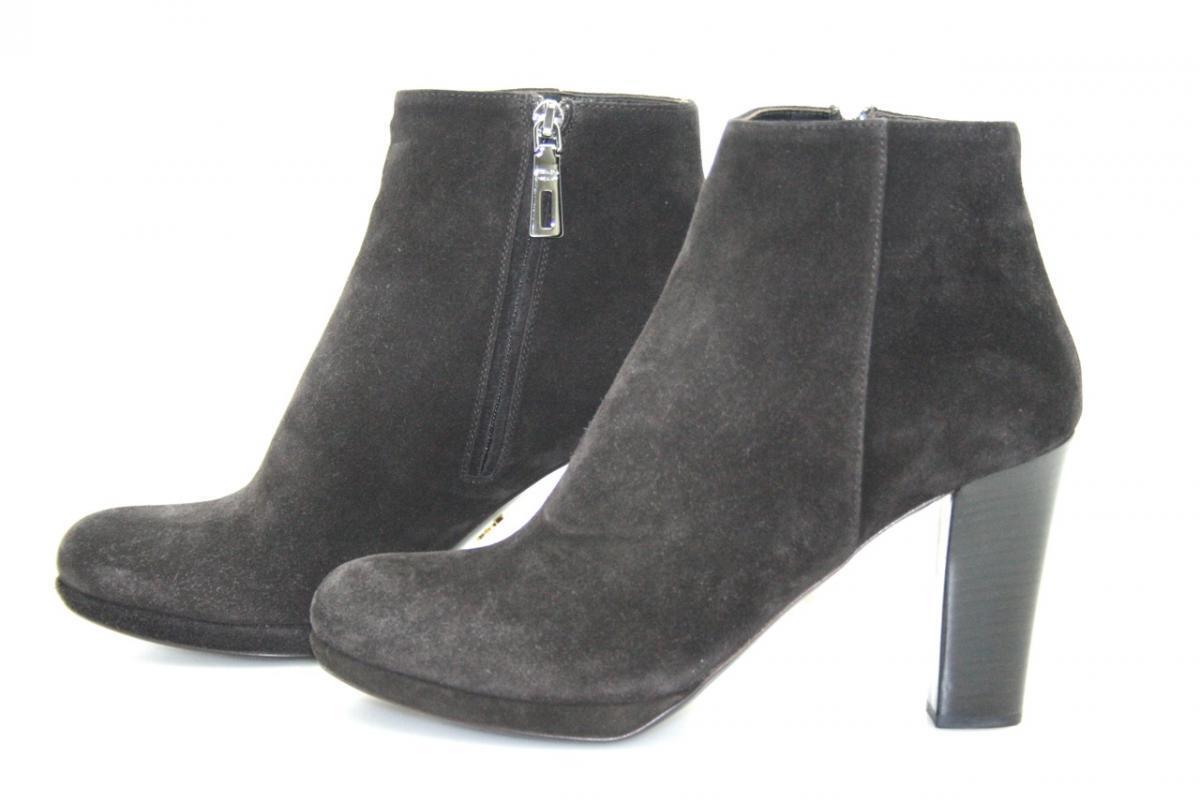 Lujo prada botín zapatos 1tp144 ebano marrón nuevo New 38,5 39