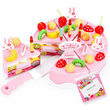 Baby Kids Plastic Cutting Birthday Party Cake Toy Children Pretend Play Gifts