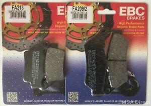 EBC Organic FRONT and Rear Disc Brake Pads Honda SH300i 2 Sets 2007 to 2014