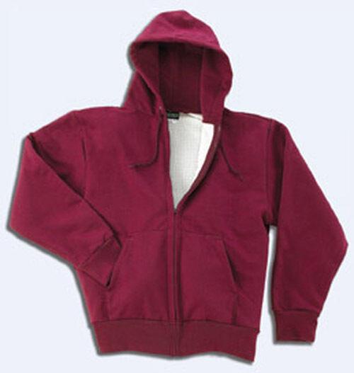 Tall  Herren Thermal Extra Hwt Zipper Hooded Sweatshirt