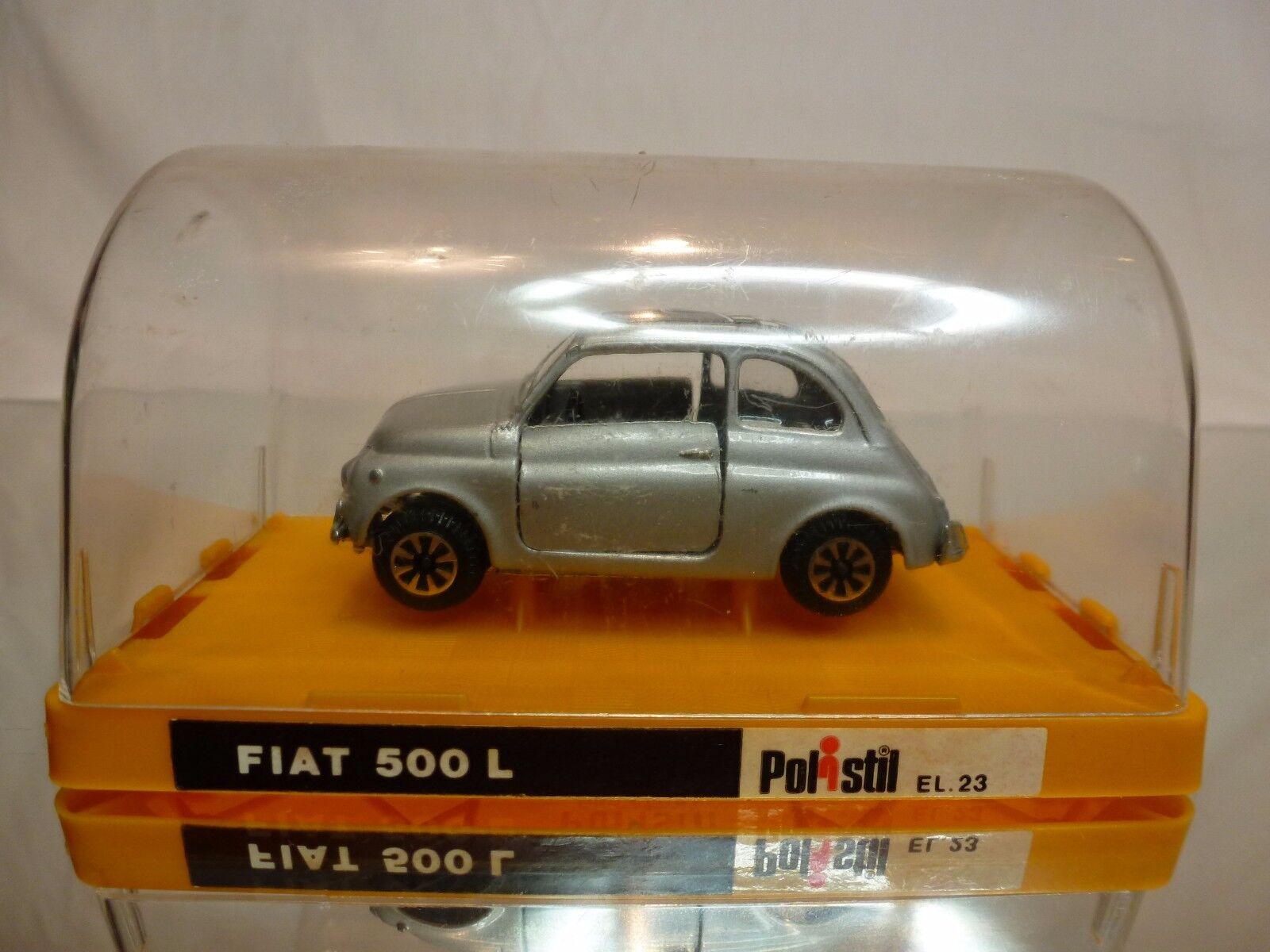 Polistil el23 fiat 500l - grau metallic 1 43 - sehr selten - ausgezeichneten in der box