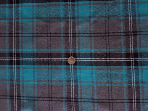 Calidad Superior Turquesa y Gris de Tela de verificación de tartán//Material-Ropa//Furnishings