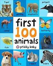 FIRST100 ANIMALS Board Book Baby Toddler First Year Kids Learning Read Talk New