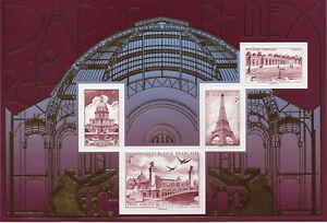 BLOC-F5222-TIMBRES-5222-5225-NEUF-XX-PARIS-PHILEX-2018-MONUMENTS-DE-PARIS