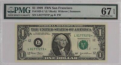 2004A $10 FRN Federal Reserve Star Note San Francisco PMG Superb Gem UNC 67 EPQ