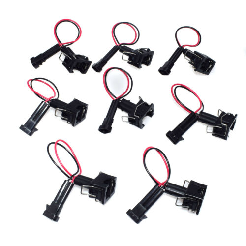 8X Injector Adapters For LQ4 LQ9 4.8 5.3 6.0 Wire Harness to LS1 LS6 LT1 EV1