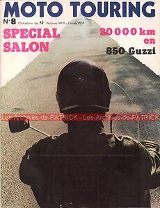 MOTO-TOURING-8-HARLEY-DAVIDSON-SX-350-GUZZI-850-GT-sur-20000-km-Salon-1973