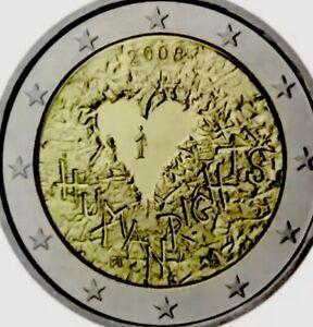 Finlande Pièce De 2 Euro 2008 Commemorative Droits De L'homme Coeur Valentine Neuf Unc-afficher Le Titre D'origine Ezf1og2l-07224754-765932452