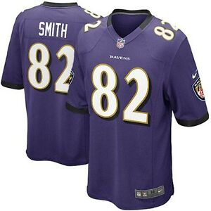 Details about Nike Torrey Smith Baltimore Ravens Youth Game Jersey - Purple