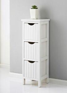 Hq New Bathroom Storage Maine 3 Drawer Chest White Ebay