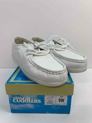 cobbie cuddlers woman's size 9 wide white leather nursing