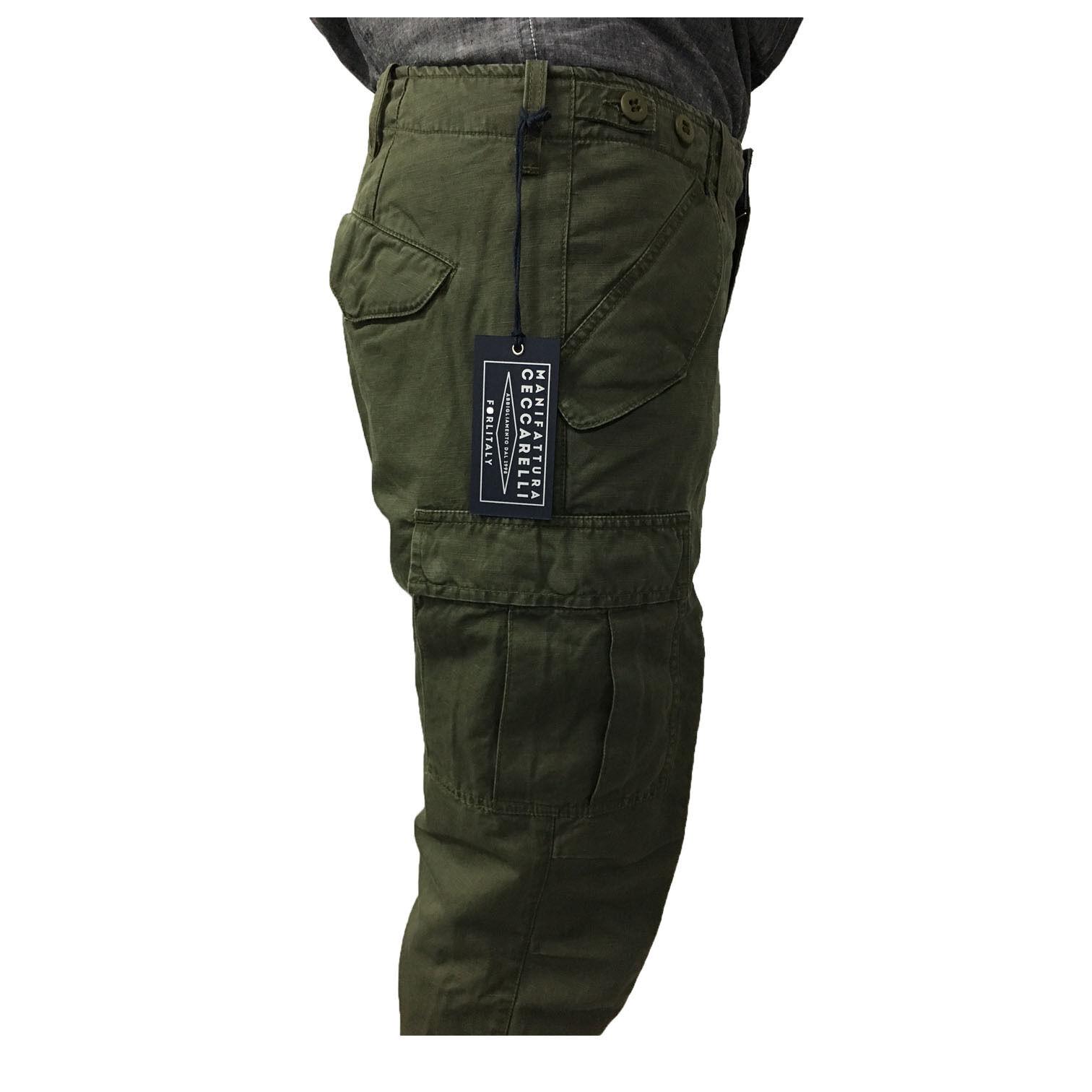 MANIFATTURA CECCARELLI pantalone uomo con tascone verde mod 6508 ZN MADE IN ITA