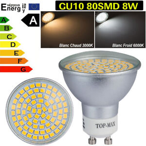 4-10x-20x-40x-LED-Ampoule-LED-Lampe-8W-GU10-80SMD-3528-Blanc-Chaud-Froid-Lumiere