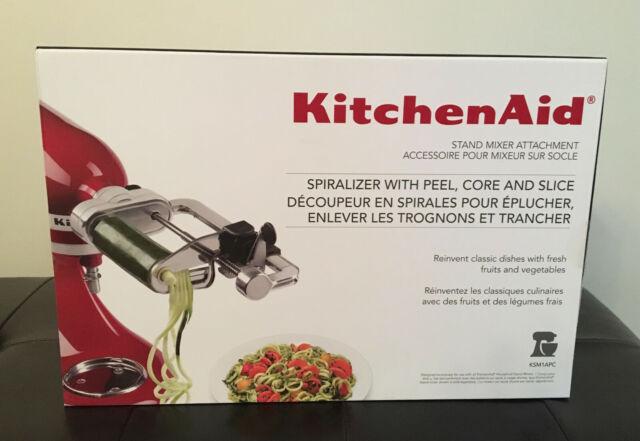 KitchenAid Spiralizer with Peel Core /& Slice Attachment