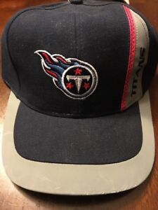 Image is loading Vintage-Tennessee-Titans-NFL-Adjustable-Hat-Retro-Brand- f754d49fd83