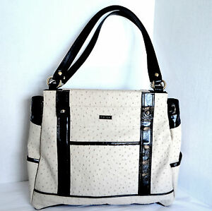 Miche PRIMA BASE BAG & LACY Shell Ivory Faux Ostrich Satchel ...