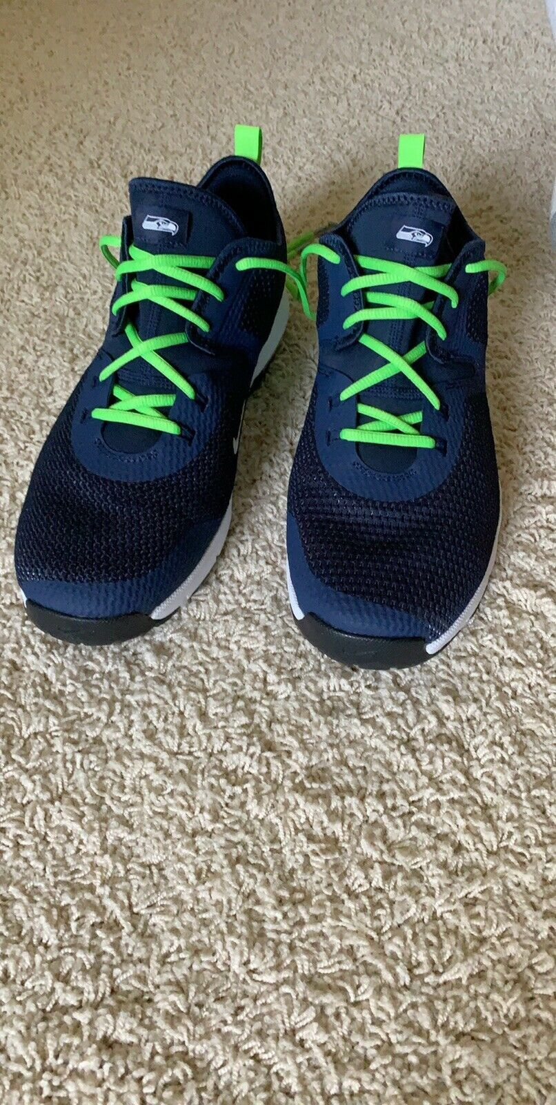 Size 13 Seahawks Nike Air Max TYPHA 2 shoes.