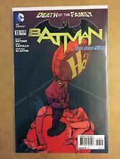 BATMAN #13 2ND PRINT JOKER VARIANT DEATH OF THE FAMILY DC NEW 52 NM+
