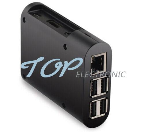 V1 5PCS Black ABS Protective Enclosure Case Box For Computer Raspberry Pi 2 B//B