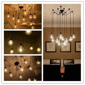 Uk vintage 12head multiple diy ceiling spider lamp light edison image is loading uk vintage 12head multiple diy ceiling spider lamp aloadofball Gallery