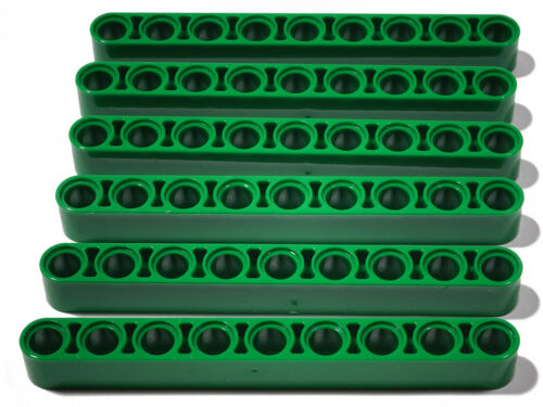 6 x Liftarm dick 1x9 grün LEGO Technik Green Liftarm 40490 NEUWARE
