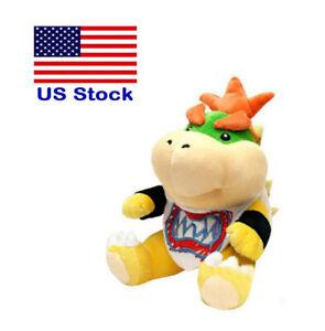 Super-Mario-Bros-Plush-Bowser-Jr-Baby-Bowser-Toy-Stuffed-Animal-Doll-6-034-US-Stock